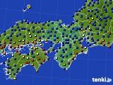 2015年01月01日の近畿地方のアメダス(日照時間)