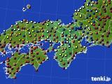 2015年01月03日の近畿地方のアメダス(日照時間)