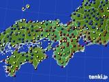 2015年01月04日の近畿地方のアメダス(日照時間)