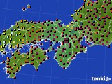 2015年01月05日の近畿地方のアメダス(日照時間)