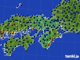 2015年01月06日の近畿地方のアメダス(日照時間)