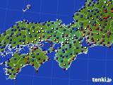 2015年01月08日の近畿地方のアメダス(日照時間)