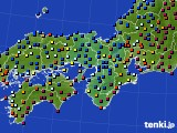 2015年01月09日の近畿地方のアメダス(日照時間)