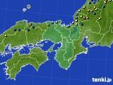 近畿地方のアメダス実況(積雪深)(2015年01月10日)