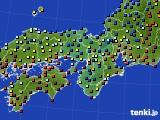 2015年01月10日の近畿地方のアメダス(日照時間)