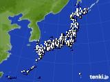 アメダス実況(風向・風速)(2015年01月10日)