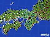2015年01月12日の近畿地方のアメダス(日照時間)