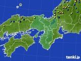 近畿地方のアメダス実況(積雪深)(2015年01月16日)