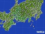 東海地方のアメダス実況(風向・風速)(2015年01月16日)