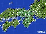 近畿地方のアメダス実況(風向・風速)(2015年01月16日)
