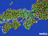 2015年01月18日の近畿地方のアメダス(日照時間)