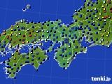 2015年01月21日の近畿地方のアメダス(日照時間)
