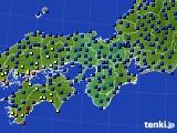 2015年01月22日の近畿地方のアメダス(日照時間)