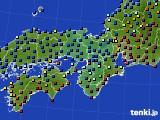 2015年01月23日の近畿地方のアメダス(日照時間)