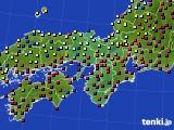 2015年01月24日の近畿地方のアメダス(日照時間)