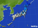 アメダス実況(気温)(2015年01月24日)