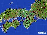 2015年01月25日の近畿地方のアメダス(日照時間)