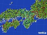 2015年01月28日の近畿地方のアメダス(日照時間)