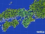 2015年01月29日の近畿地方のアメダス(日照時間)