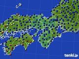 2015年01月30日の近畿地方のアメダス(日照時間)