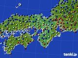 2015年01月31日の近畿地方のアメダス(日照時間)