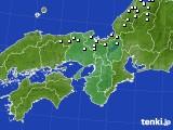 近畿地方のアメダス実況(降水量)(2015年02月01日)