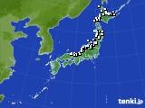 アメダス実況(降水量)(2015年02月01日)