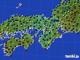 近畿地方のアメダス実況(日照時間)(2015年02月01日)