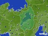 滋賀県のアメダス実況(風向・風速)(2015年02月01日)
