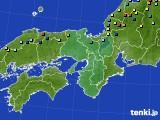 近畿地方のアメダス実況(積雪深)(2015年02月02日)