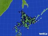 北海道地方のアメダス実況(気温)(2015年02月03日)