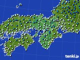 近畿地方のアメダス実況(気温)(2015年02月03日)