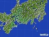 東海地方のアメダス実況(風向・風速)(2015年02月03日)