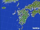 九州地方のアメダス実況(風向・風速)(2015年02月03日)