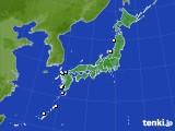 アメダス実況(降水量)(2015年02月04日)