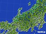 北陸地方のアメダス実況(気温)(2015年02月04日)