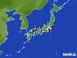 アメダス実況(降水量)(2015年02月05日)