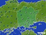 岡山県のアメダス実況(気温)(2015年02月05日)