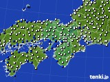 近畿地方のアメダス実況(風向・風速)(2015年02月05日)