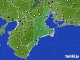三重県のアメダス実況(風向・風速)(2015年02月05日)