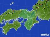 近畿地方のアメダス実況(積雪深)(2015年02月06日)