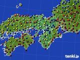 近畿地方のアメダス実況(日照時間)(2015年02月06日)