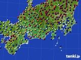 東海地方のアメダス実況(日照時間)(2015年02月07日)