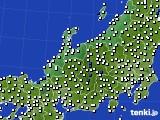 北陸地方のアメダス実況(風向・風速)(2015年02月07日)