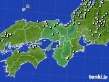 近畿地方のアメダス実況(降水量)(2015年02月08日)