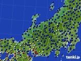 北陸地方のアメダス実況(日照時間)(2015年02月08日)