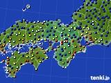 近畿地方のアメダス実況(日照時間)(2015年02月08日)