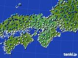 近畿地方のアメダス実況(気温)(2015年02月08日)