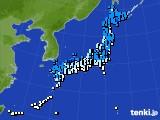 アメダス実況(気温)(2015年02月08日)