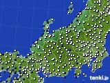 北陸地方のアメダス実況(風向・風速)(2015年02月08日)